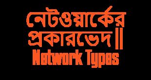 নেটওয়ার্কের প্রকারভেদ Network Types