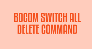 BDCOM SWITCH ALL DELETE COMMAND