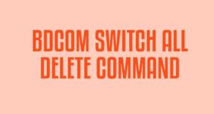 BDCOM SWITCH ALL DELETE COMMAND
