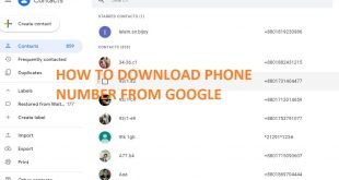HOW TO DOWNLOAD PHONE NUMBER FROM GOOGLE