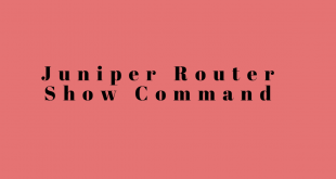 Juniper Router Show Command